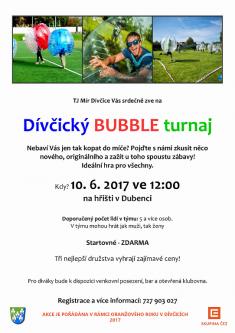 Dívčický BUBBLE turnaj